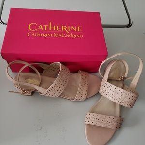 Catherine Malandrino perforated sandals